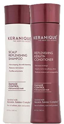 Keranique Damage Control Scalp Replenishing Shampoo and Conditioner Set