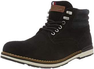 Tommy Hilfiger Men''s Outdoor Suede Boot Combat (Black 990)