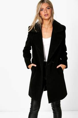 boohoo Oversized Collar Wool Look Coat