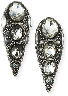 Lulu Frost Jabrosa Rhinestone Stud Earrings $375 thestylecure.com