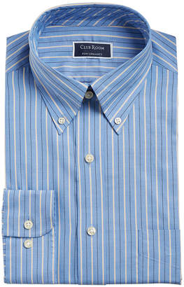 Club Room Men's Classic/Regular Fit Performance Pinpoint Double Stripe Dress Shirt