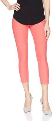 Hue Women's Ankle Slit Essential Denim Capri Leggings, Ankle Slit-White, M
