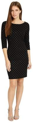 Phase Eight Black 'Helene' Heat Fix Shift Dress