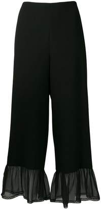 See by Chloe sheer panel palazzo pants