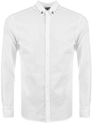 Just Cavalli Stud Collar Shirt White