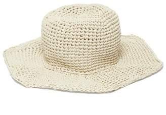 Reinhard Plank Hats - Star Straw Bucket Hat - Womens - White