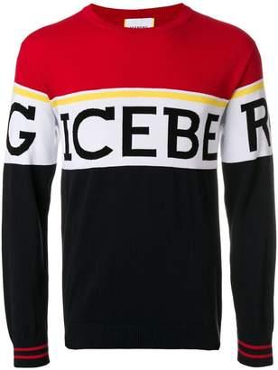 Iceberg logo colour-block sweatshirt