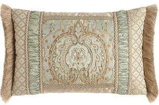 Dian Austin Couture Home LOUISE OBLONG PILLOW WITH FR