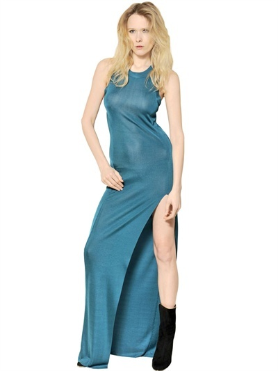 Balmain Viscose Jersey Long Dress