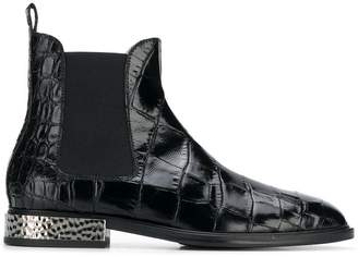 Alberto Gozzi embossed surface boots