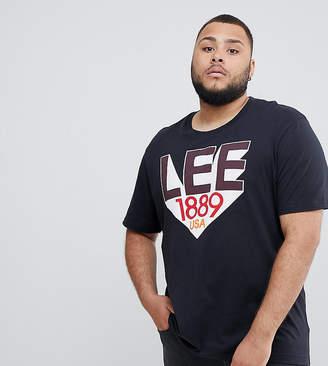 Lee plus retro logo t-shirt black