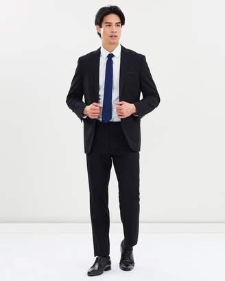 TAROCASH Bond Trim One-Button Suit