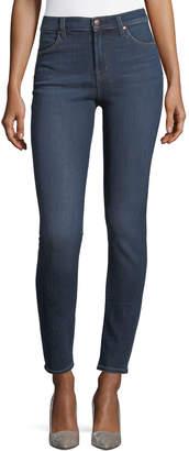 J Brand Maria High-Rise Super-Skinny Jeans, Medium Blue