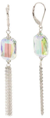 Sterling Silver Swarovski Crystal Tassel Earrings