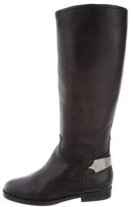 Emporio Armani Leather Mid-Calf Boots