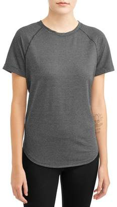 Athletic Works Women's Active Drawstring Tie Back Short Sleeve T-Shirt