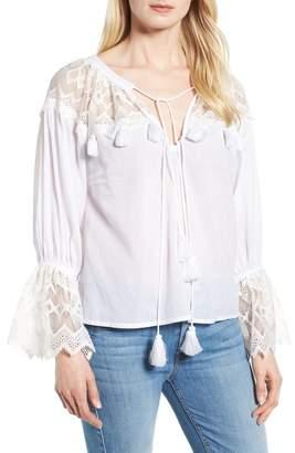 Kas Berkley White Lace Cotton Blend Top