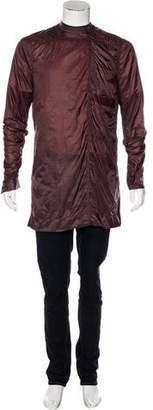 Rick Owens Longline Woven Popover Jacket