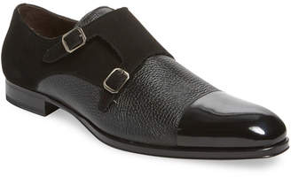 Mezlan Cap-Toe Leather Monkstrap