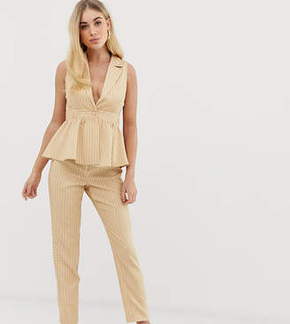 UNIQUE21 slim pants with contrast pinstripe co-ord