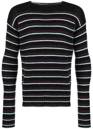 Prada striped knit Shetland sweater