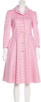 Prada Wool Gingham Coat
