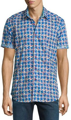 Robert Graham Johnson Valley Short-Sleeve Sport Shirt $228 thestylecure.com