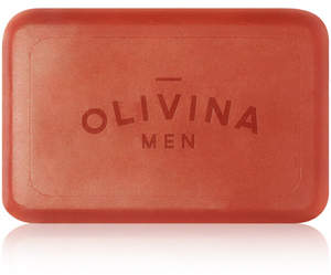 Olivina MEN Exfoliating Bar Soap - Bourbon Cedar