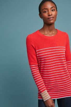 White + Warren Essential Striped Cashmere Sweater