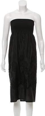 3.1 Phillip Lim Strapless Knee-Length Embellished Dress