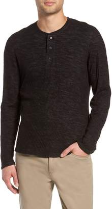 Vince Double Knit Henley Top