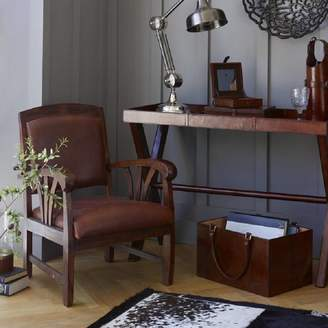 STUDY Cambrewood Low Slung Leather Chair