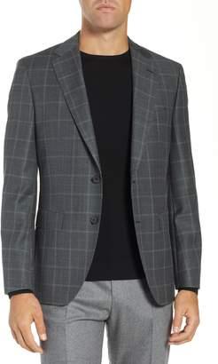 BOSS Jewels Classic Fit Windowpane Wool Sport Coat