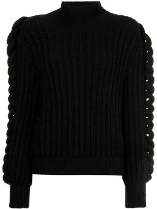 Liya flared sleeve turtleneck sweater