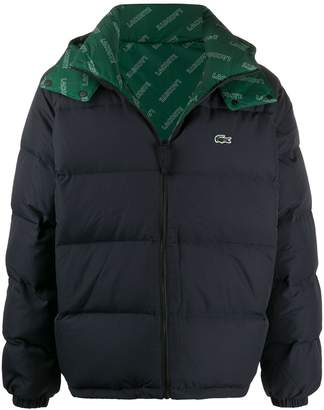 Lacoste hooded padded jacket