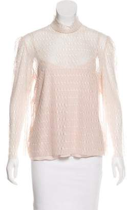 Philosophy di Alberta Ferretti Lace Sheer Top w/ Tags