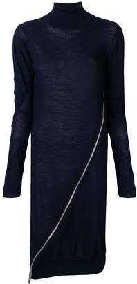 Sacai zip-detail sweater dress