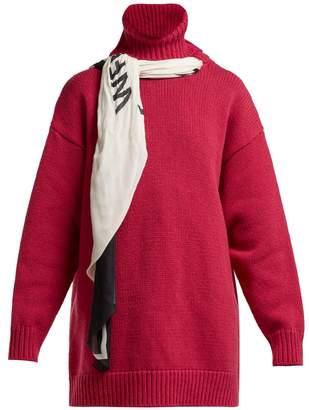 Balenciaga Scarf roll-neck wool sweater