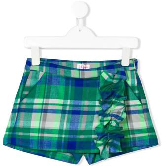 Il Gufo ruffled checked shorts