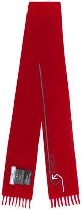 Prada fringed cashmere scarf
