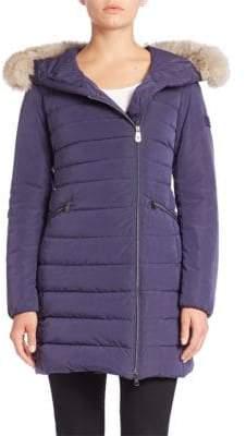 Peuterey Seriola Fox Fur-Trim Down Puffer Coat
