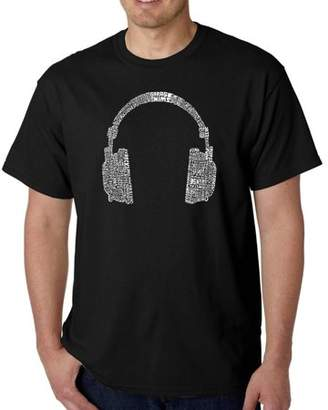 Pop Culture Los Angeles Pop Art Men's T-Shirt - 63 Different Genres of Music
