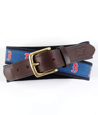 Vineyard Vines Boston Red Sox Canvas Club Belt