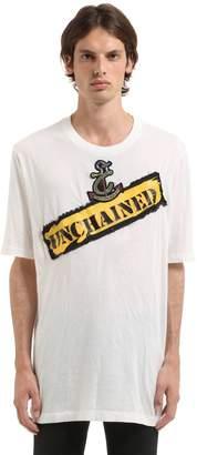 Faith Connexion Unchained Patch Cotton Jersey T-Shirt