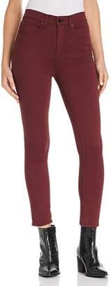 Rag & Bone High-Rise Ankle Skinny Jeans in Burgundy