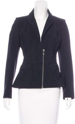 Balenciaga Peak-lapel Zip-Up Blazer