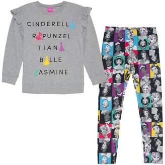 Disney Princess Ruffle Sleeve Top and Legging, 2-Piece Outfit Set (Little Girls & Big Girls)