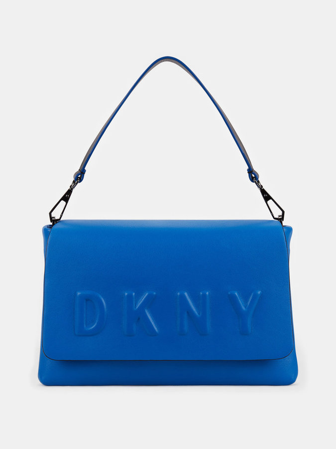 DKNY Neoprene Bonded Lamb Nappa Leather Shoulder Bag