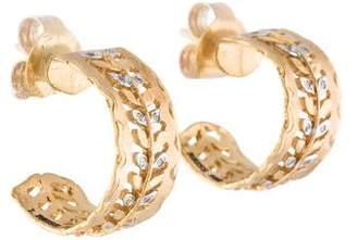 Reiss I. 14K Diamond Hoop Earrings
