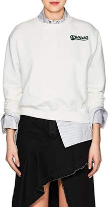 "Off-White Women's ""Woman"" Cotton Terry Sweatshirt"